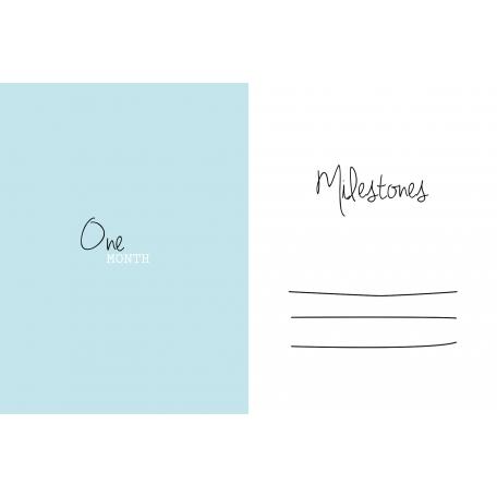 4x6 Milestone Journal Card, Blue, Month 1