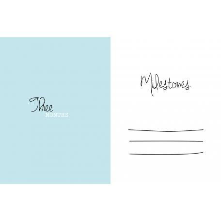 4x6 Milestone Journal Card, Blue, Month 3