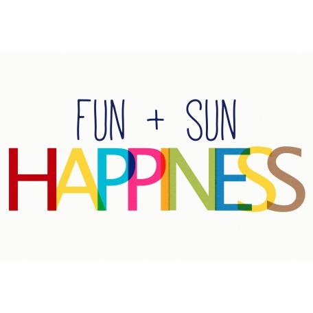 Sand & Beach- Fun + Sun - Journal Card