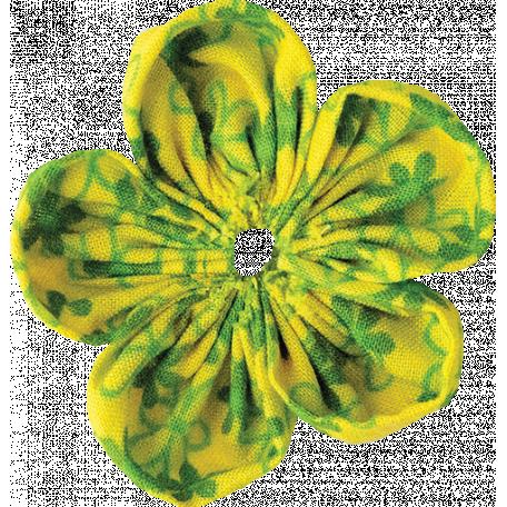 It's Elementary, My Dear - Fabric Flower 03
