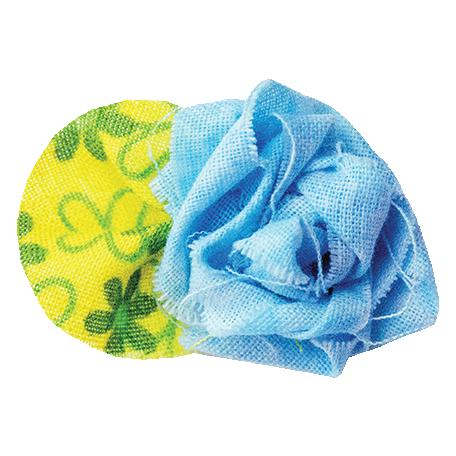 It's Elementary, My Dear - Blue Fabric Flower 01