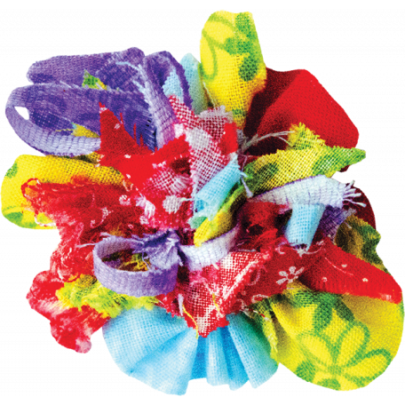 It's Elementary, My Dear - Multi-Color Fabric Flower 01