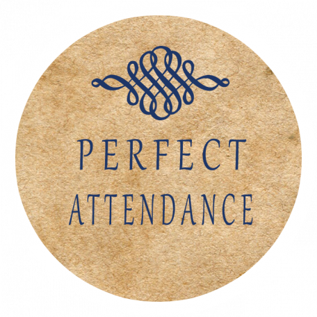 Perfect Attendance Word Art