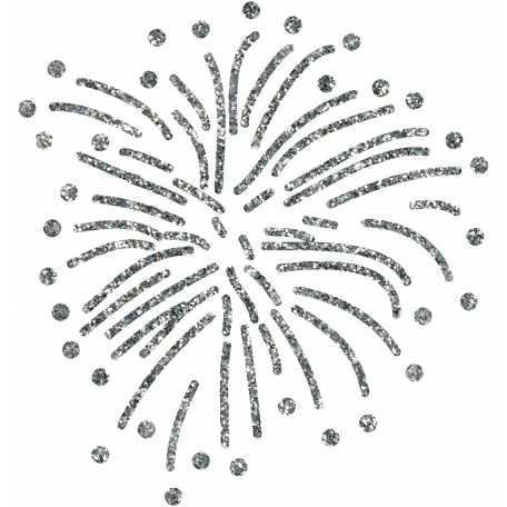 Independence Silver Glitter Firework