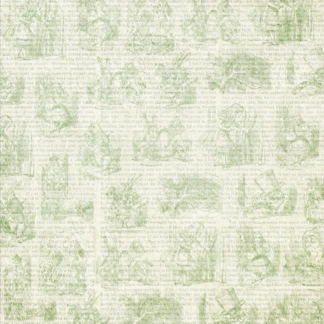 Green Alice in Wonderland Paper