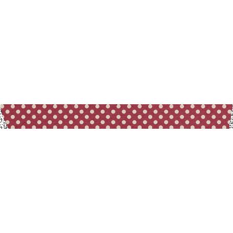 Grandma's Kitchen Red Polka Dot Washi Tape