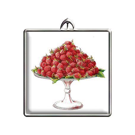 Square Raspberries Pendant