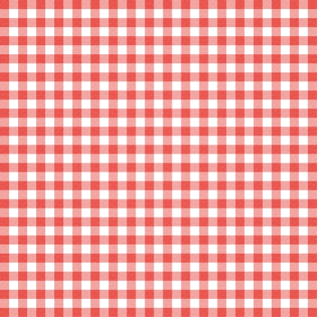 Grandma's Kitchen - Coral Gingham Paper