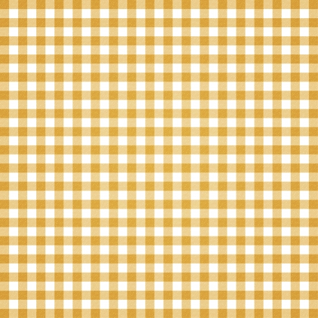 Grandma's Kitchen - Mustard Gingham Paper