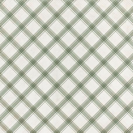 Grandma's Kitchen - Olive Plaid Paper