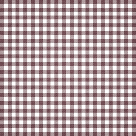 Grandma's Kitchen - Plum Gingham Paper