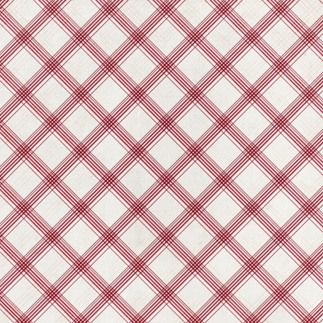 Grandma's Kitchen - Red Plaid Paper