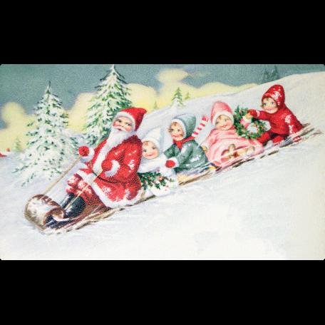 Winter Wonderland - Santa Postcard