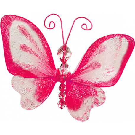 Tiny, But Mighty - Pink Nylon Butterfly
