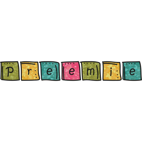 Tiny, But Mighty - Baby Blocks Preemie Word Art Doodle