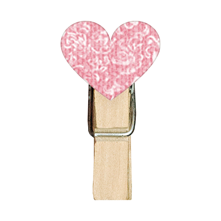Tiny, But Mighty Heart Clothespin 03
