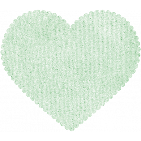 Be Mine - Mint Scalloped Heart