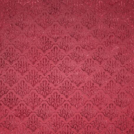 Be Mine - Dark Pink Damask Fabric
