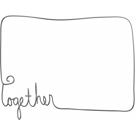 Be Mine - Together Wire Word Art Frame
