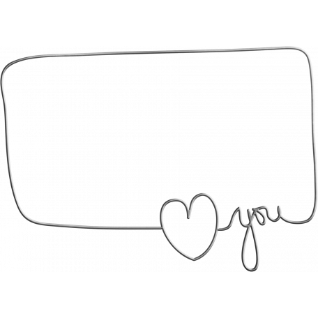 Be Mine - Love You Wire Word Art Frame