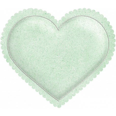 Be Mine - Mint Green Puffy Heart