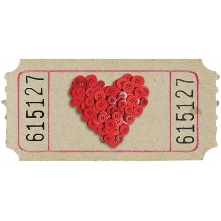 Button Heart Ticket