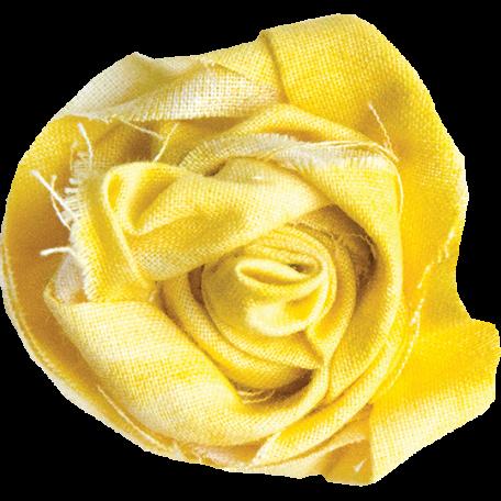 Yellow Fabric Rose