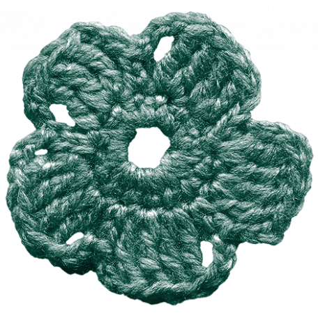 The Lucky One - Teal Crochet Flower