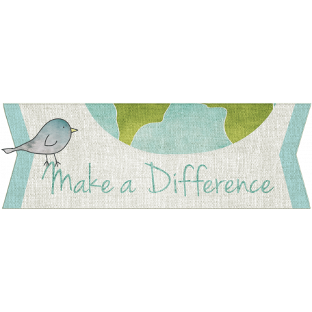 Earth Day - Make a Difference Word Art