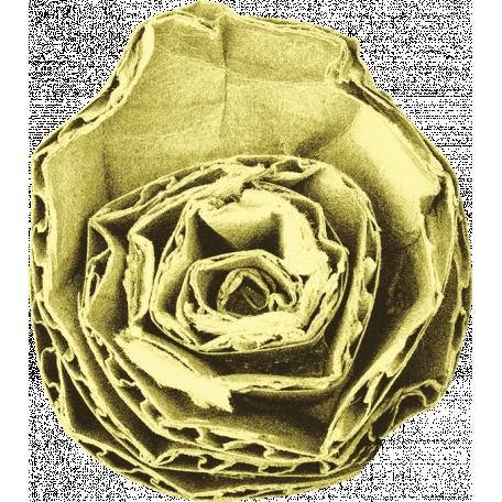 Lime Cardboard Flower