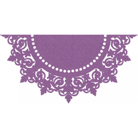 One Stop Bunting Shop - Flag Purple Doily