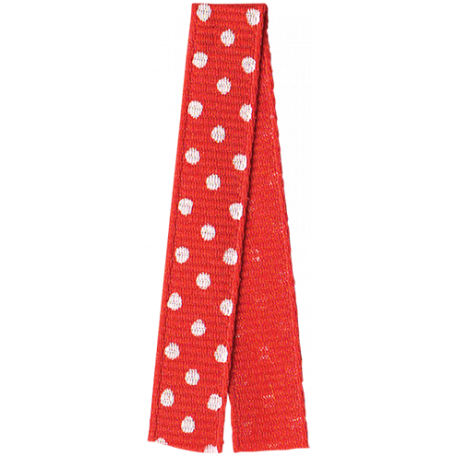 One Stop Bunting Shop - Red Polka Dot Folded Ribbon