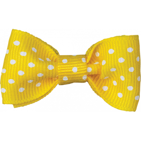 One Stop Bunting Shop - Yellow Polka Dot Bow