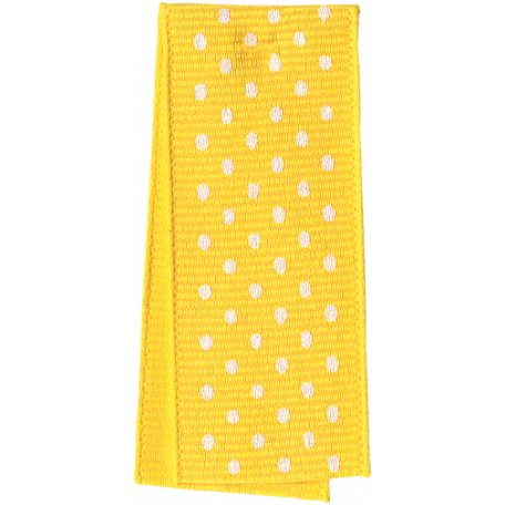One Stop Bunting Shop - Yellow Polka Dot Folded Ribbon