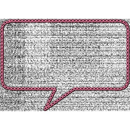 Hello - Stitched Speech Bubble 2
