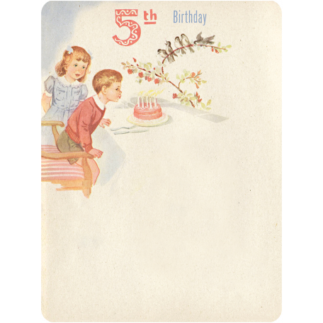 Oh Baby, Baby - Fifth Birthday Journal Card