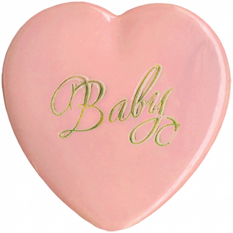 Oh Baby, Baby - Vintage Heart Buton 2