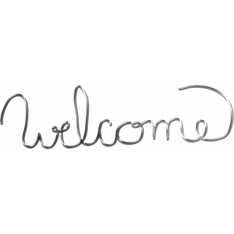 "Oh Baby ""Welcome"" Wire Word Art"