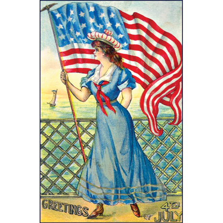 Independence - 4th of July Postcard