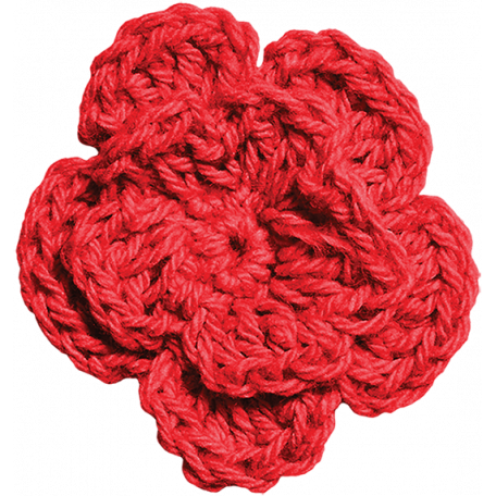 Independence - Red Crochet Flower