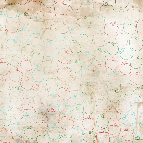 Apples Paper Line Art