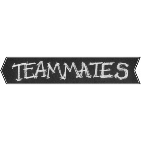 Sports Word Art Banner Teammates Left