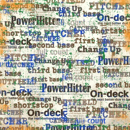 Baseball Words 002 Brown