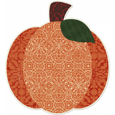 Crisp Fall Air Sticker Pumpkin