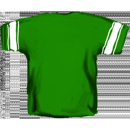 Football Jersey Back Green