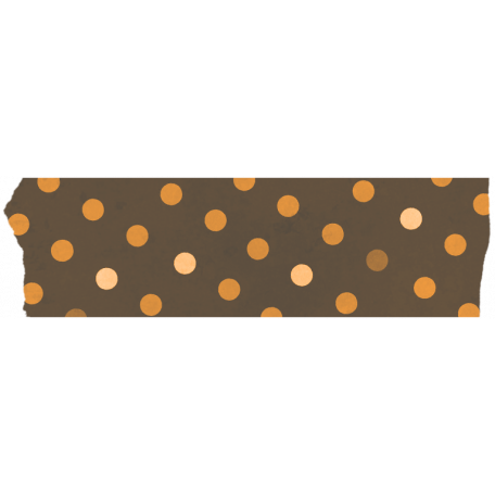 Spook Tape Brown Dots