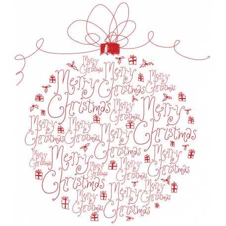 Touch of Sparkle Christmas Word Art Ornament