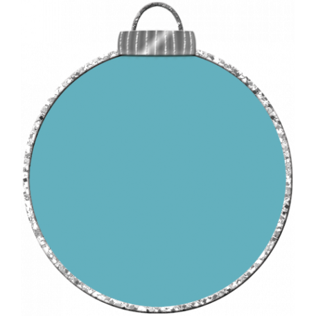 Touch of Sparkle Christmas Ornament Blue 02