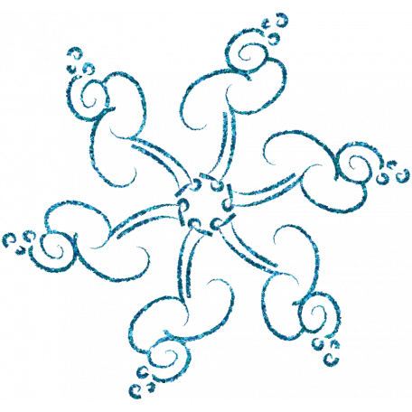 Touch of Sparkle Christmas Snowflake Blue 02