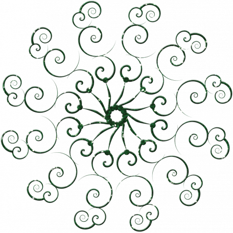 Touch of Sparkle Christmas Snowflake Green 03